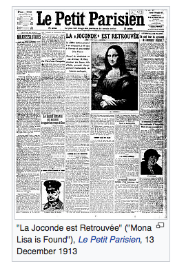 Screen shot of 1903 editorial about the Mona Lisa