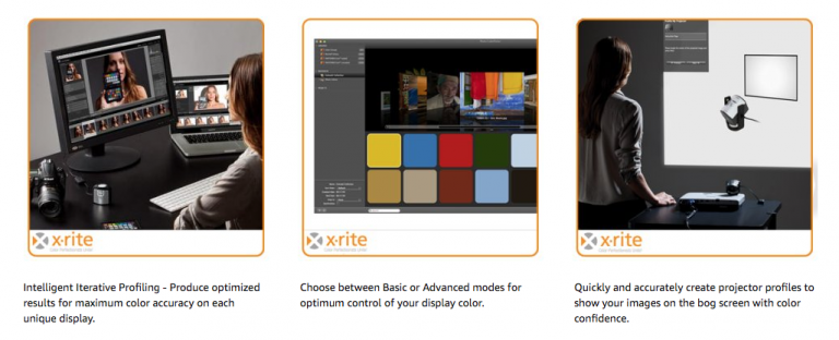 X Rite i1 Pro is designed to calibrate various screens and a greater colour spectrum