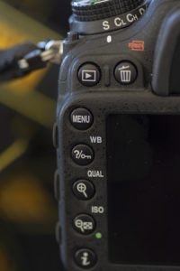 The White Balance selector indicated by WB