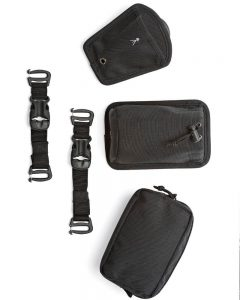 The LowePro ProTactic comes with loads of extra pouches and storage options as pictured here