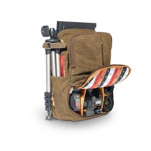 National Geographic Camera Backpack detailing how much can be packed into it