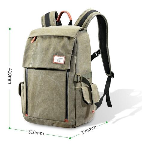 The Zecti waterproof bag showing external dimensions