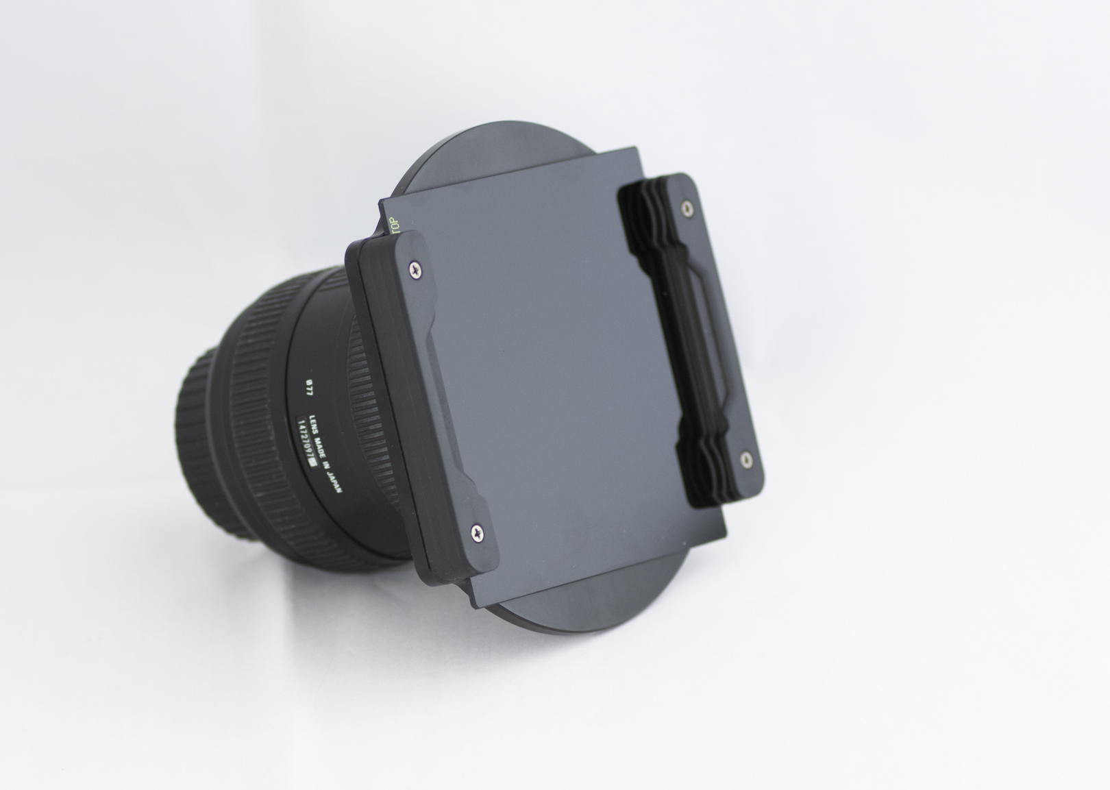 The NiSi filter holder system with Lee Big Stopper Neutral Density filter mounted