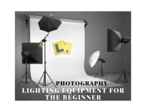 "An image showing photography lighting kit with ""learner"" plates"
