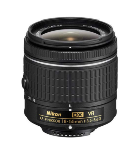 The standard 18-55 kit lens that comes with the Nikon D3400 DSLR and all Nikon crop sensor cameras