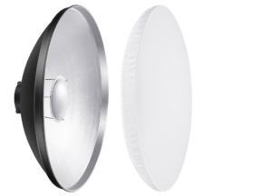 Stndard aluminium beauty dish with diffuser sock