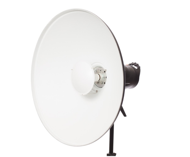 Aluminium beauty dish with internal white reflector