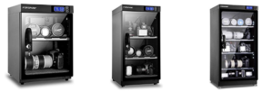 Images of three of the FORSPArK range of camera dry cabinets on offer
