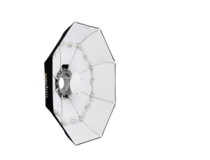 "The Impact 40"" collapsible beauty dish with white reflector material"