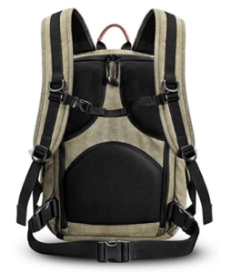 Best Mirrorless Camera Backpack Rear View of The Zecti Camera Backpack