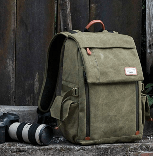 Best Mirrorless Camera Backpack The Zecti Canvas Camera Backpack