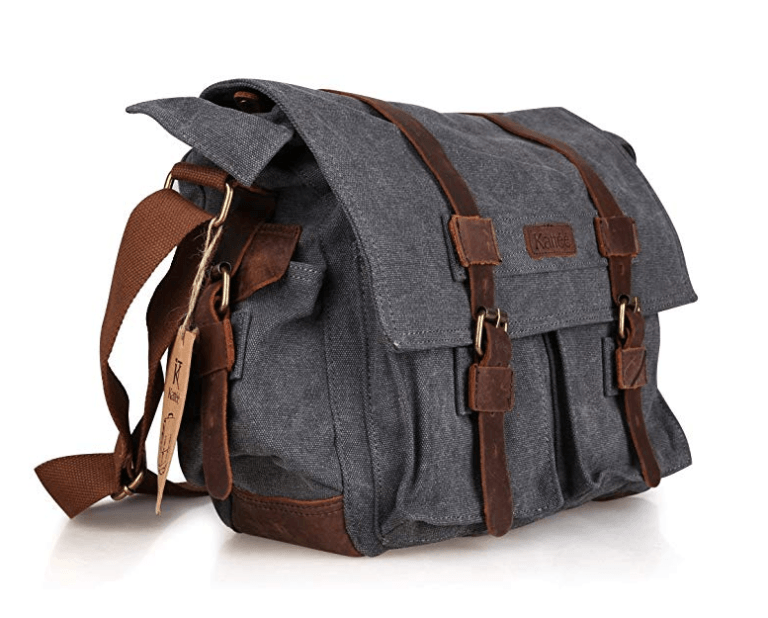Best Mirrorless Camera Bag The Kattee Leather Canvas Vintage Messenger Bag
