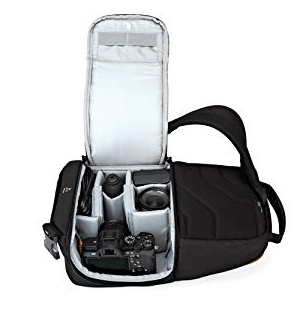 Best Mirrorless Camera Bag The Lowepro Slingshot Edge 150 AW internal Compartment