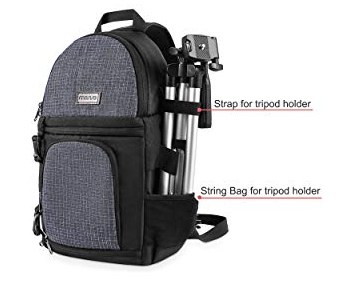 Best Mirrorless Camera Bag The MISISO Sling Bag With Tripod Attached