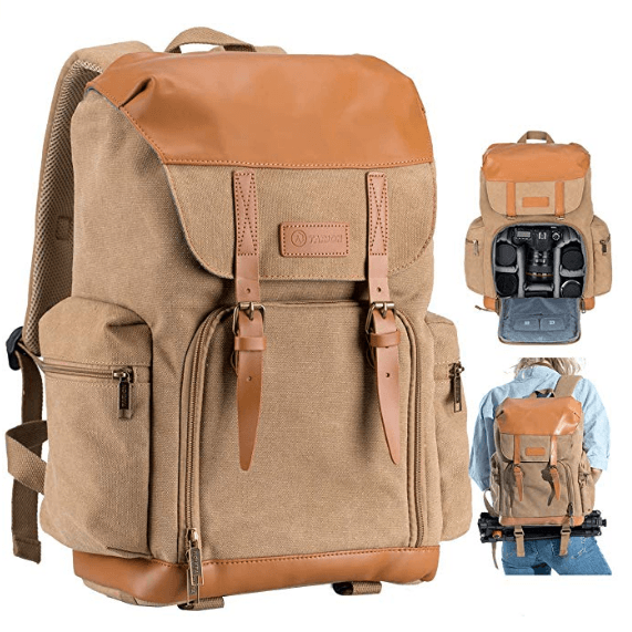 Best Mirrorless Camera Bag The Tarion Canvas Backpack