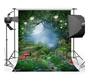 Best Portrait Photography Backdrops a Vinyl Backdrop of Enchanted Forest