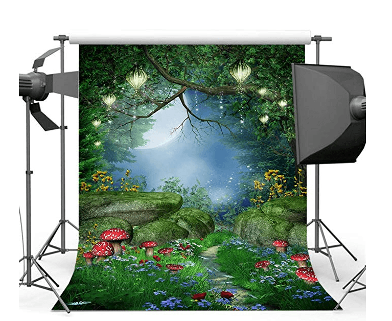 Best Portrait Photography Backdrops a Vinyl Backdrop of Enchanted Forest