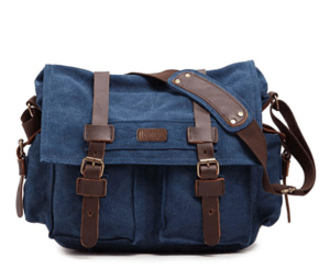 Cute Camera Bags For Women Kattee Leather Canvas Bag Blue