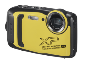 The Best Underwater Camera For Snorkeling pictured here is the FujiFilm XP140