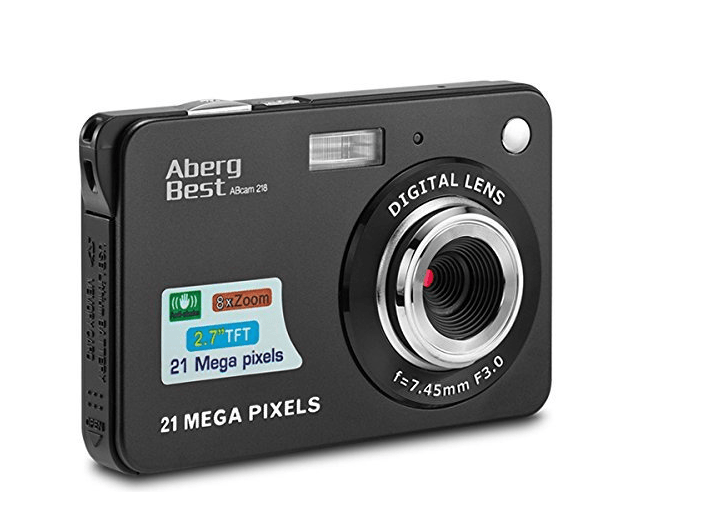 Best Point And Shoot Camera The AbergBest 21mp Digital camera front view