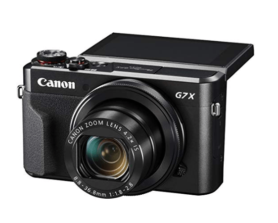 Best Point And Shoot Camera The Canon G7x MKIII front view with tilt screen visible