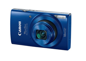 Best Point And Shoot Camera The Front View of the Canon Powershot 190 ELPH IS in Blue