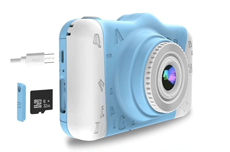 Best Point And Shoot Camera front view of the WowGo For Kids in the Blue color option