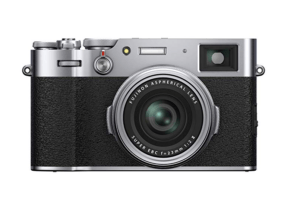 The Best Point and Shoot Camera Showing The FujiFilm X100V in Silver