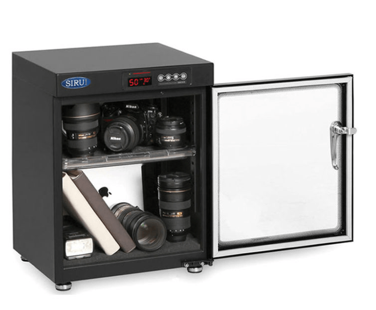 The Australian made SIRUI-HC50 Camera Dry Cabinet is a popular camera dry cabinet
